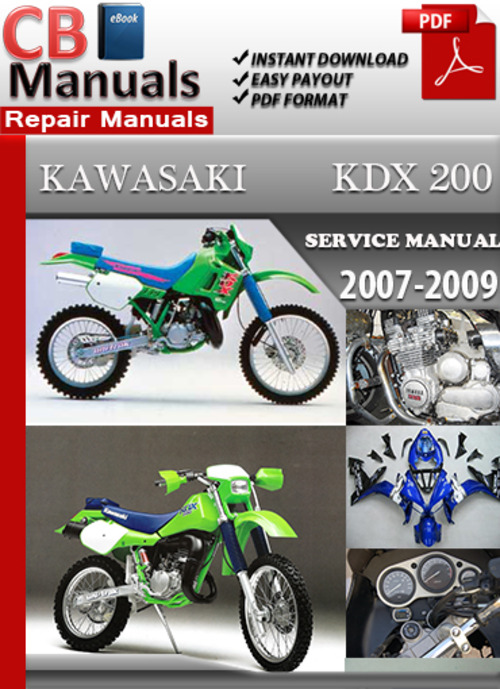 Digital Service Manuals  Kawasaki Kdx 200 1989