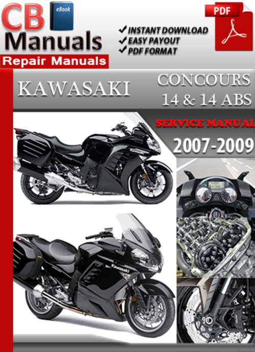 kawasaki concours 14 2007 2009 online service repair manual downl rh tradebit com 1995 Kawasaki Concours 2006 Kawasaki Concours