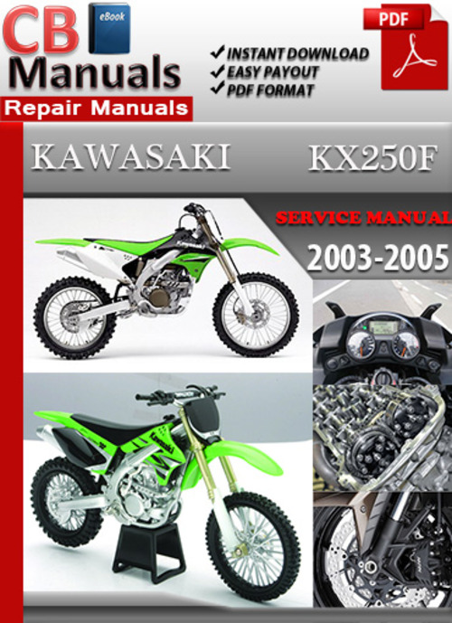 Free Kawasaki KX250 F 1994-2007 Online Service Repair Manual Download thumbnail