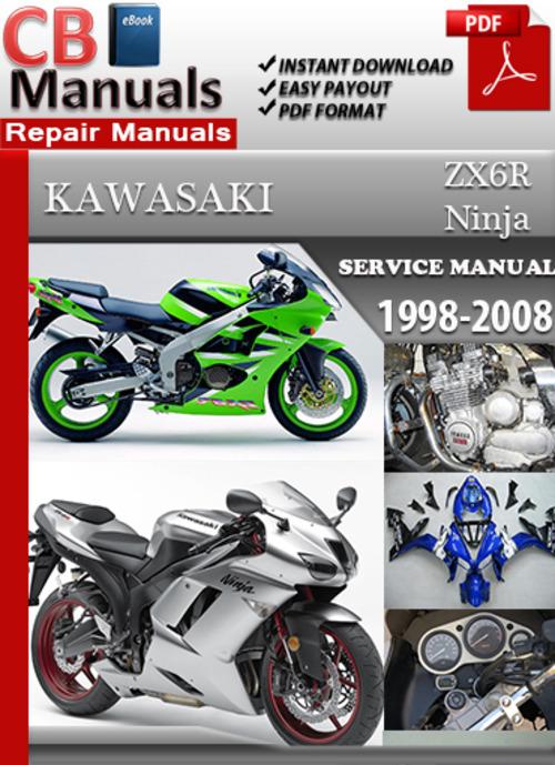 kawasaki zx6r ninja 1998 2008 online service repair manual downlo rh tradebit com 2008 zx6r user manual 2008 zx6r manual cam chain tensioner