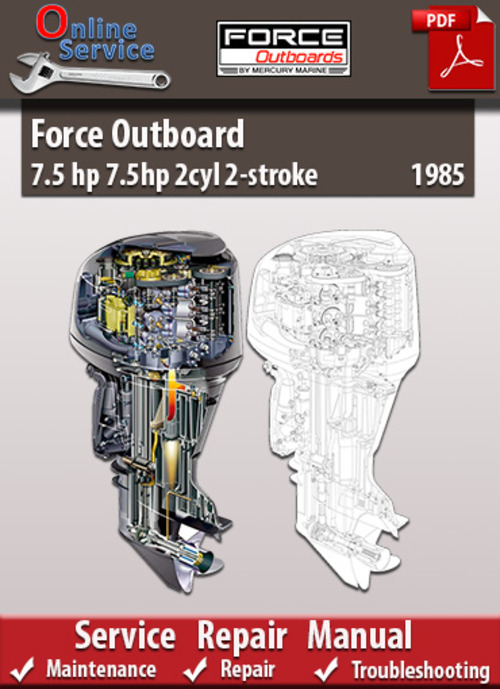 Free Force Outboard 7.5 hp 2cyl 2-stroke 1985 Service Manual Download thumbnail