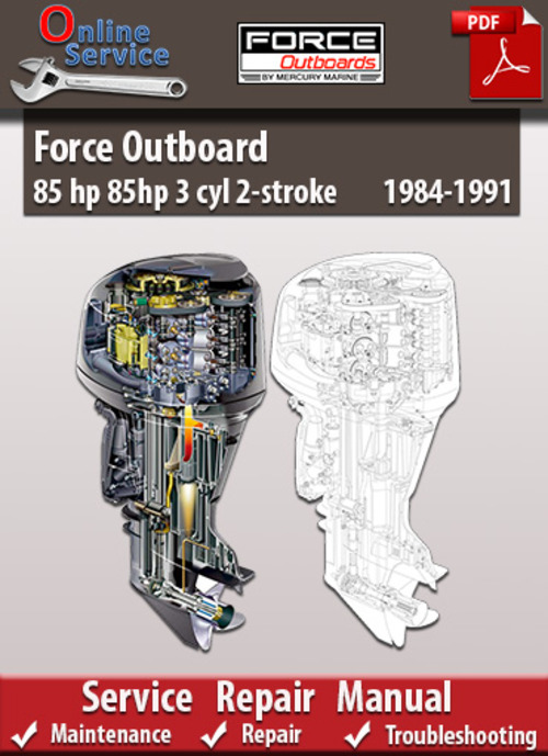 force outboard 85 hp 3 cyl 2 stroke 1984 1991 service manual down Force 85 HP Outboard Diagrams 85 HP Force Lower Unit