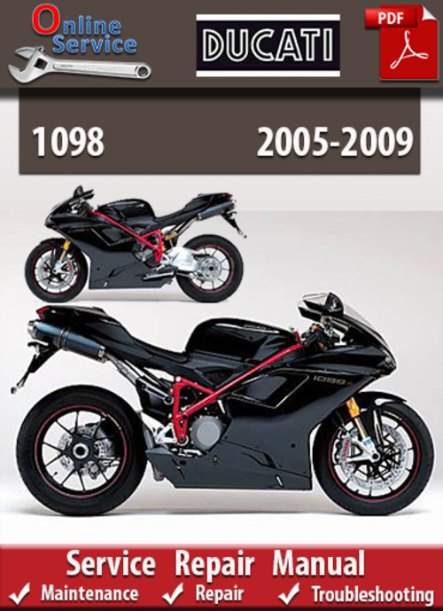 ducati 1098 2005 2009 online service repair manual. Black Bedroom Furniture Sets. Home Design Ideas