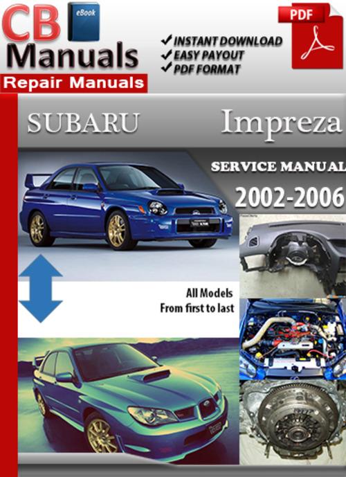 subaru impreza 2002 2006 online service repair manual download ma rh tradebit com 2006 subaru impreza 2.5i owners manual 2006 subaru impreza wrx service manual