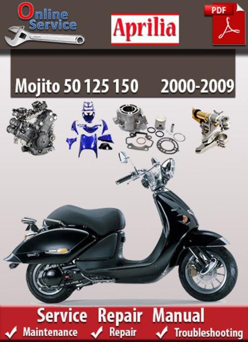 Aprilia mojito 50 125 150 2000 2009 online service manual - Service a mojito ...