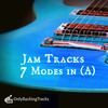 Thumbnail 7 Modes Backing Tracks in A + Diagrams + Tabs