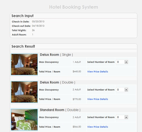 Pay for Hotel Booking System