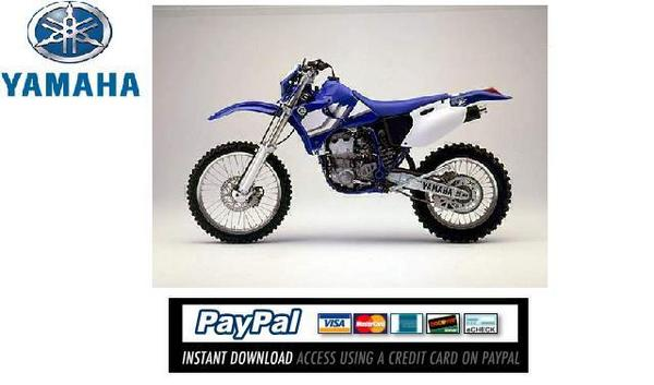 Pay for Download Service & repair manual Yamaha WR400F / WR426F 2000