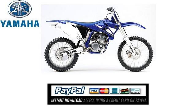 Pay for Download Service & repair manual Yamaha YZ250F 2003