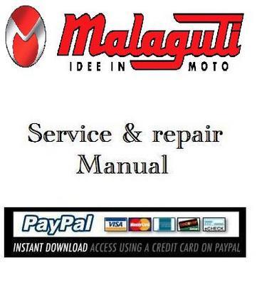 Free Service & repair manual Malaguti F10 Download thumbnail