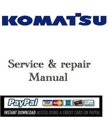 Pay for Download service & repair manual Komatsu 102 series