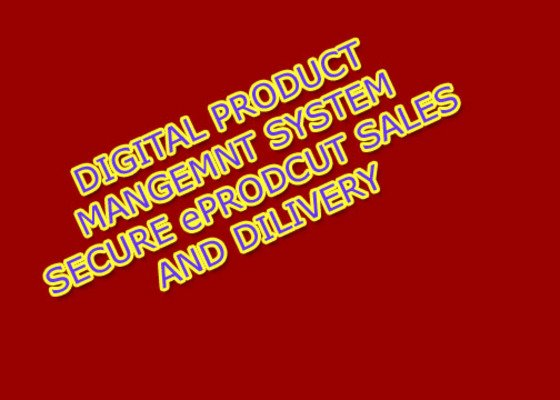 Pay for Digital Product Management System