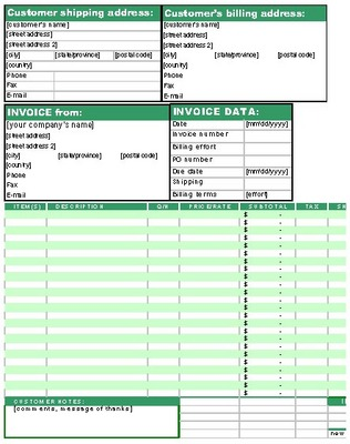 Pay for Service Shipping Invoice Work Order Template Form