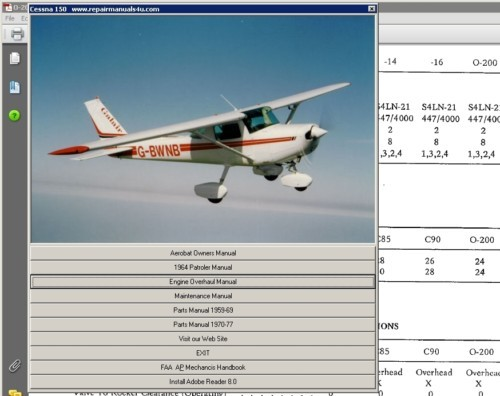 Pay for Cessna 152 Service maintenance manual D2064-1-13