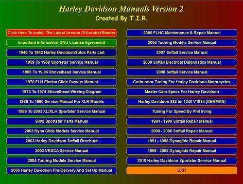 harley davidson manuals from 1940 to 2010 download. Black Bedroom Furniture Sets. Home Design Ideas