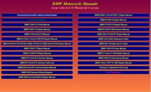 bmw motorcycle workshop and service manuals download. Black Bedroom Furniture Sets. Home Design Ideas