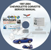 Thumbnail CHEVROLET CORVETTE 1997 - 2004 SERVICE REPAIR MANUAL