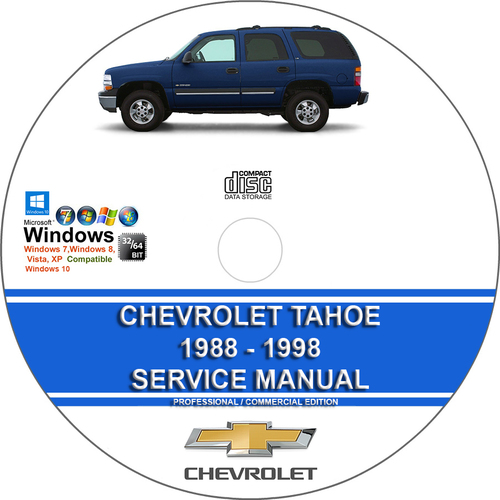 Pay for Chevrolet Tahoe 1988 - 1998 Service Repair Manual