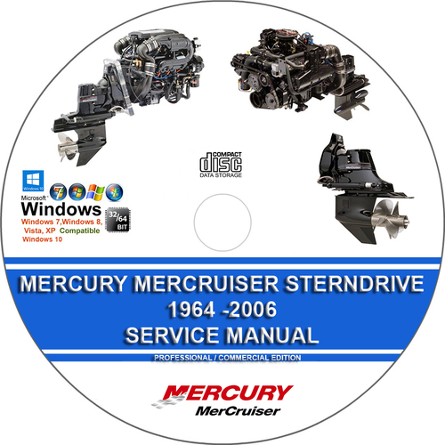 Pay for Mercury Mercruiser Sterndrive 1964 - 2006 Service Manual
