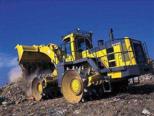 Landfill Compactor Maintenance : Komatsu wf t trash compactor service shop