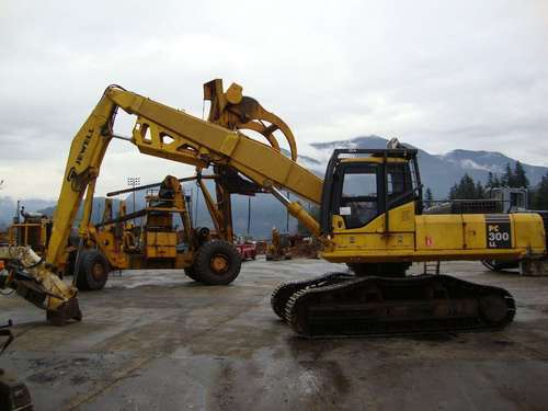 komatsu pc300ll 7e0 logging road builder excavator service shop rep