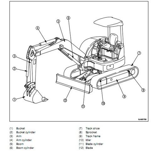 komatsu mx502 hydraulic excavator operation  u0026 maintenance