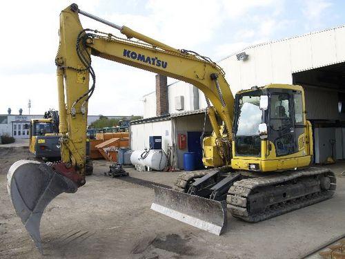 komatsu pc138us 8 pc138uslc 8 hydraulic excavator service. Black Bedroom Furniture Sets. Home Design Ideas
