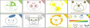 Thumbnail pop up card 1 - Forest friends reminder - PLR