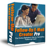 Thumbnail Followup Email Creator Pro software