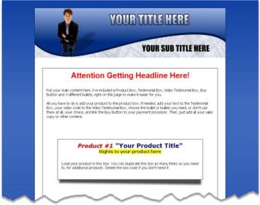 Pay for 5 PLR Minisite Templates [TB806]