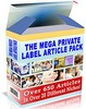 Thumbnail The Mega Private Label Article Pack with mrr