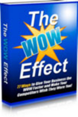 Pay for *New* The WOW Effect With MRR