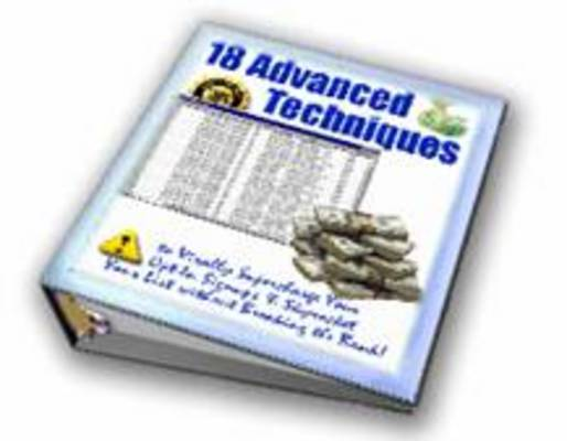 Pay for *All New * 18 Advanced Techniques With MRR