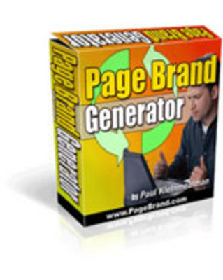 Pay for Page Brand Generator With Master Resale Rights