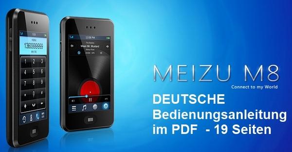 Pay for DEUTSCHE Bedienungsanleitung Handbuch f. Handy Meizu M8 (SE)