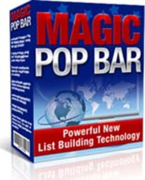 Pay for Magic Pop Bar! Master Resell Right Included