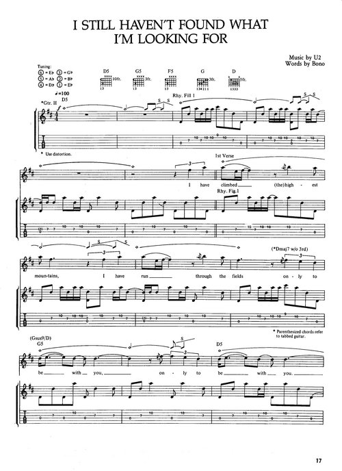 Pay for U2 - The Joshua Tree Sheet Music (Songbook)