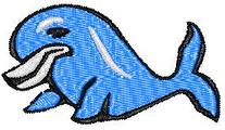 Thumbnail Blue Baby Dolphin Embroidery Design