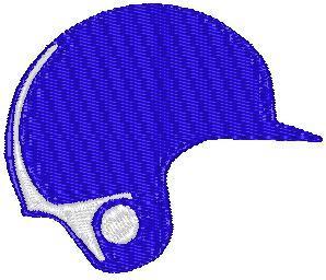 Pay for Blue Baseball Helmet Embroidery Design