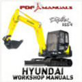 Thumbnail Hyundai Robex R55-9 Crawler Excavator Full Workshop / Service Manual R55 9