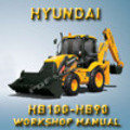 Thumbnail Hyundai HB100 / HB90 Backhoe Loader. Workshop / Service Manual. -  684 Pages, A1 quality. HB100 - HB90