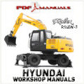 Thumbnail Hyundai Robex R140W-7 Wheel Excavator. Extensive Workshop / Service Manual. R140 W 7