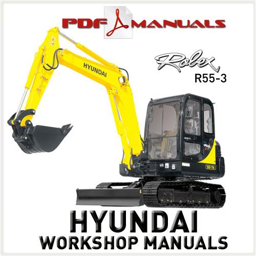 Free Hyundai Robex R55-3 Crawler Excavator Full Workshop / Service Manual R55 3 Download thumbnail