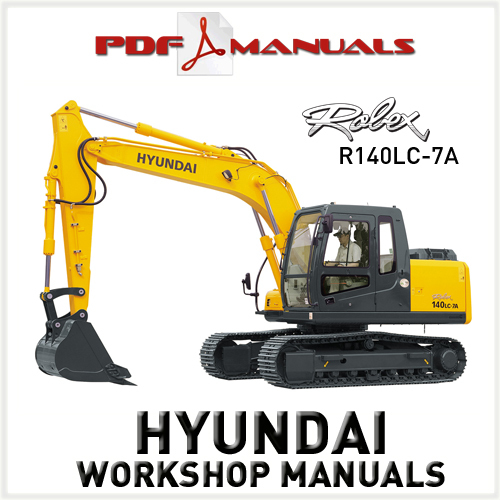 for Hyundai Robex R140LC-7A Crawler Excavator Full Service / Workshop ...