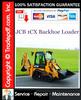 Thumbnail JCB 1CX Backhoe Loader Service Repair Manual Download ★