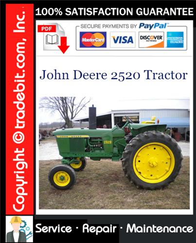 Thumbnail John Deere 2520 Tractor Service Repair Manual Download ★