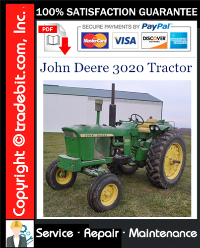 Thumbnail John Deere 3020 Tractor Service Repair Manual Download ★