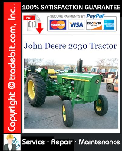 Thumbnail John Deere 2030 Tractor Service Repair Manual Download ★