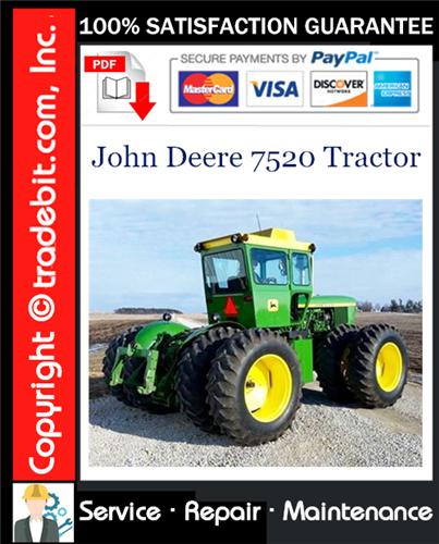 Thumbnail John Deere 7520 Tractor Service Repair Manual Download ★