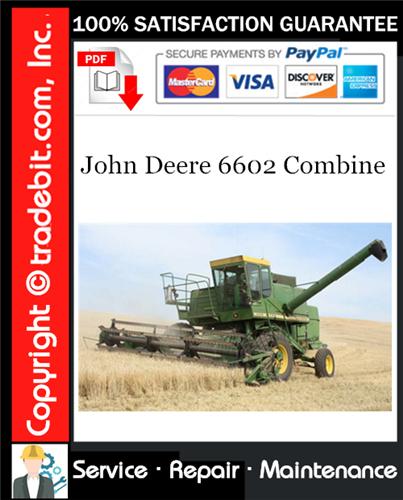 Thumbnail John Deere 6602 Combine Service Repair Manual Download ★